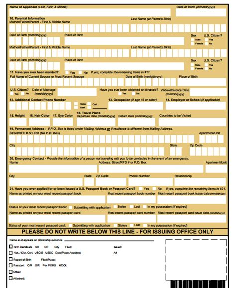 us post office application form how to apply for a us passport application united states
