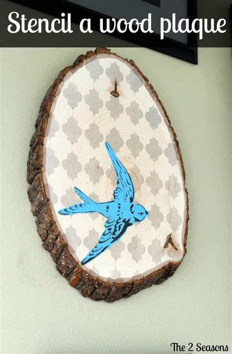 diy stencil  wooden plaque