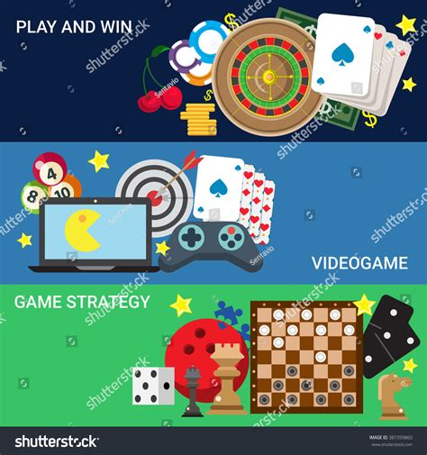 Gamble Online Casino Video Game Console Stock Vector