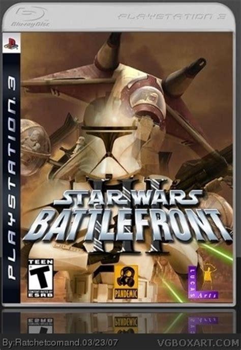 star wars battlefront iii playstation  box art cover