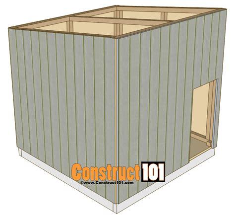 large dog house plans construct