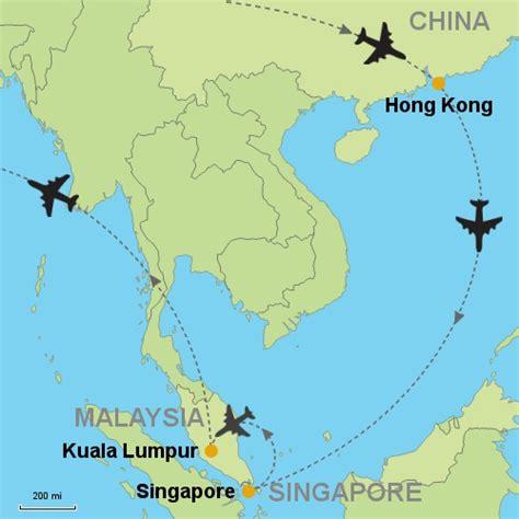 map singapore kuala lumpur
