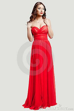 Beautiful Model And Dressed Beautiful Fashion Model In Dress Royalty Free
