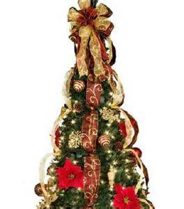 Kmart Christmas Tree Lights by 6 1 2 Lighted Pre Lit Decorated Artificial Pull Up