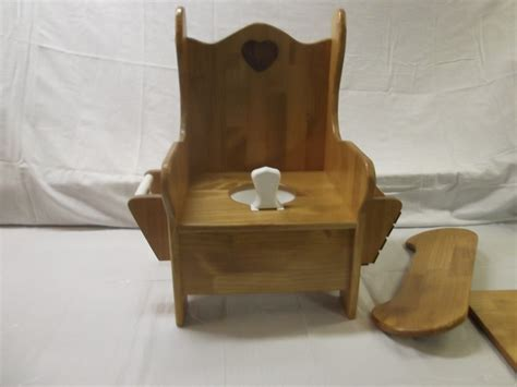 large potty chair w tray tp holder and book rack potty chair trays and etsy