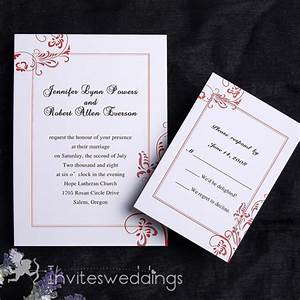 Austere simple wedding invitation iwi106 wedding for Simple wedding invitations with pictures