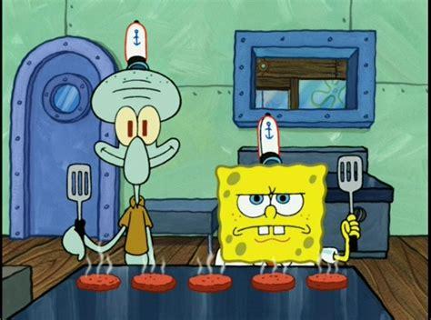 spongebob cuisine spongebob and squidward blank template imgflip
