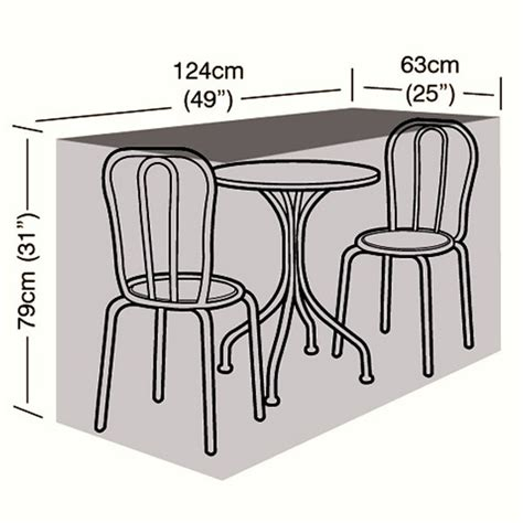 protector 2 seater bistro set cover 124cm