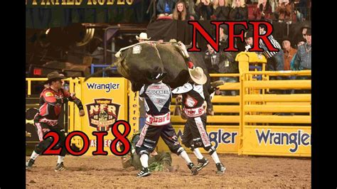 NFR BullRiding 2018 Rides, Wrecks and Saves - YouTube