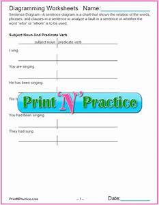 Diagramming Sentences  U2b50 Printable English Grammar Diagram