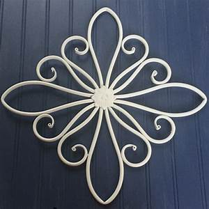 White metal wall hanging large decor decorative