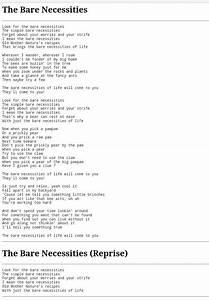 look for the necessities disney song lyrics