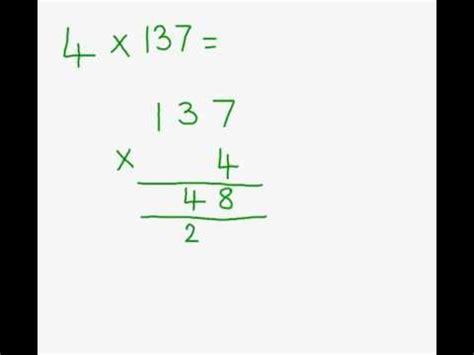 multiplication column method youtube