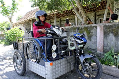 Modified Bikes For Disabled by Sri Lestari Travels By Motorcycle To Bring An Empowering