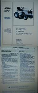 Manuals And Guides 42229  Sears Craftsman Gt18 Garden