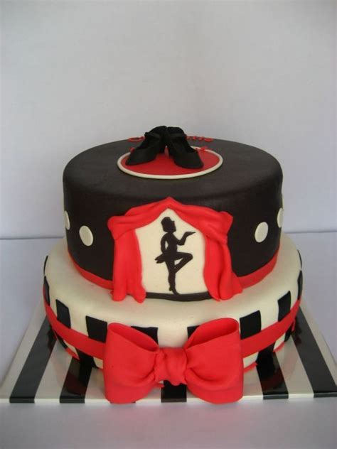red white  black dance cake creative cakes