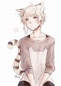 White Haired Male Neko S With Tattoos Pictures to Pin on ...