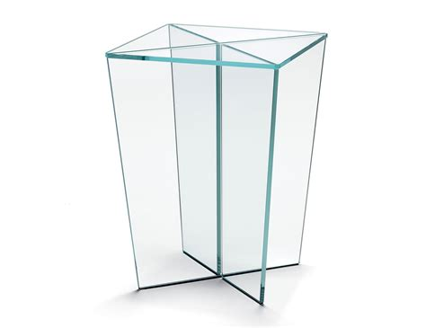 clear glass bedside table nella vetrina tonelli luxury italian mirage extra clear