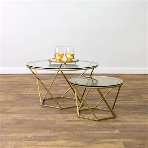 2018 Best Of Glass Gold Coffee Tables