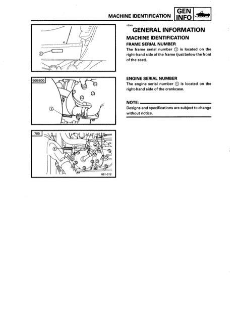 yamaha engine identification number impremedia net
