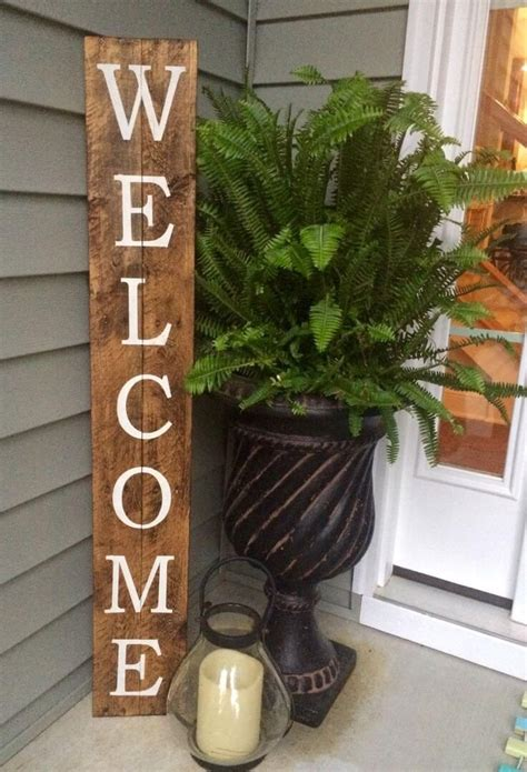 Diy Rustic Wood Welcome Sign Crafts Ideas