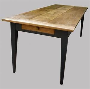 belle longue table ancienne rectangulaire peinte et With table de cuisine ancienne en bois