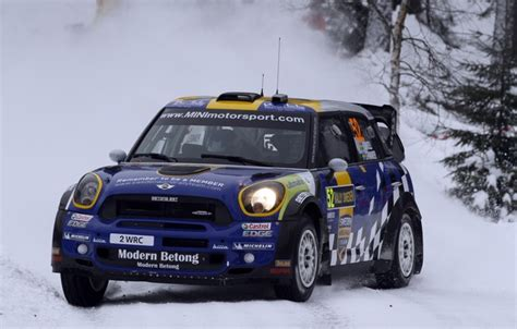 Wallpaper Winter, The Evening, Mini, Blue, Snow, Race