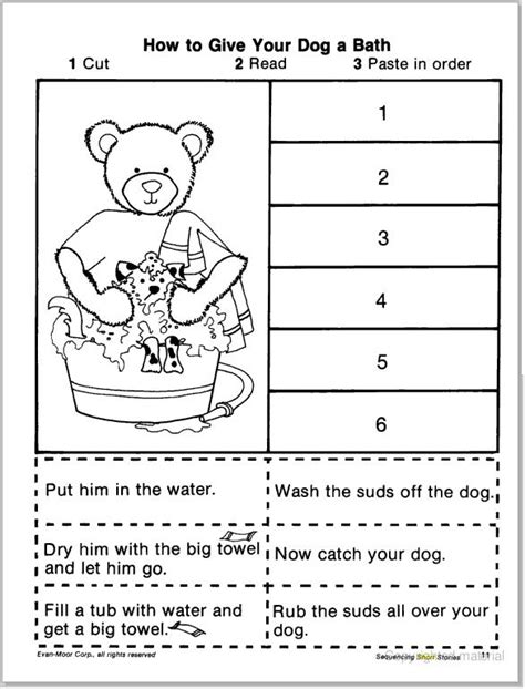 story sequencing cut paste learningenglish esl