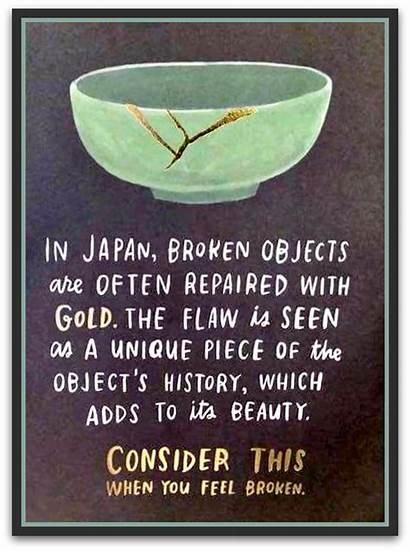 Wabi Sabi Quotes Japanese Broken Japan Gold