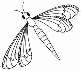 Dragonfly Coloring Printable Clip Dragonflies Clipart sketch template