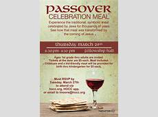 Passover Celebration Meal – Highland Oaks