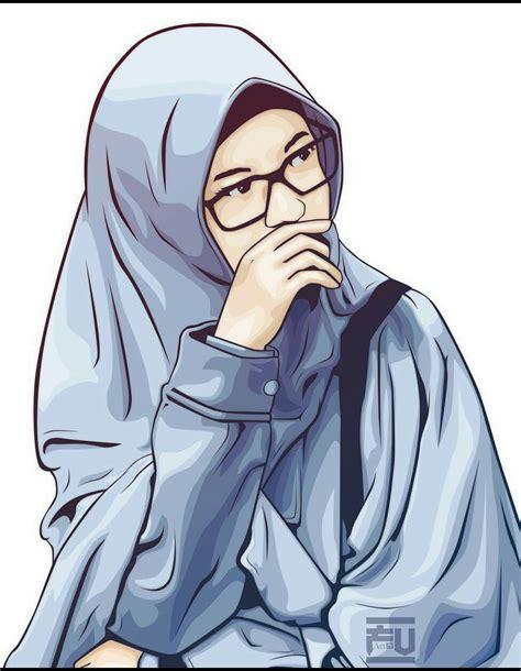 anime hijab keren bertopi