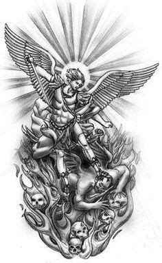god fighting devil tattoo | The most popular archangel tattoo is one of St. Michael, God's