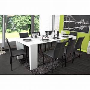 Table Blanc Laqué Extensible Ikea : table extensible alga blanc laqu ~ Nature-et-papiers.com Idées de Décoration
