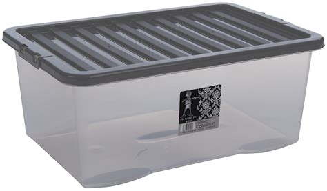 wham storage boxes wham fusion plastic storage box boxes clear container grey