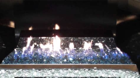 peterson real fyre  vent  glass fireplace burner