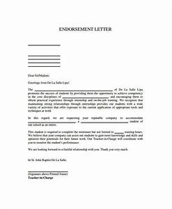 Writing A Professional Memo Free 16 Sample Endorsement Letter Samples Templates In