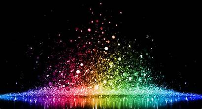 Rainbow Abstract Sparkling Lights Glittering Cool Lucent