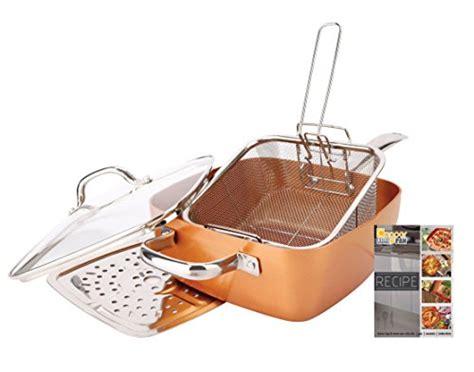 copper pan  piece set luxury induction cookware set  stick homestuffonly