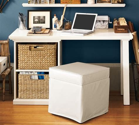 Bedford Small Desk Set With Open Cabinet Contemporary