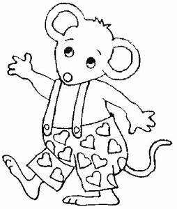 Winkende Maus 2 Ausmalbild Malvorlage Tiere