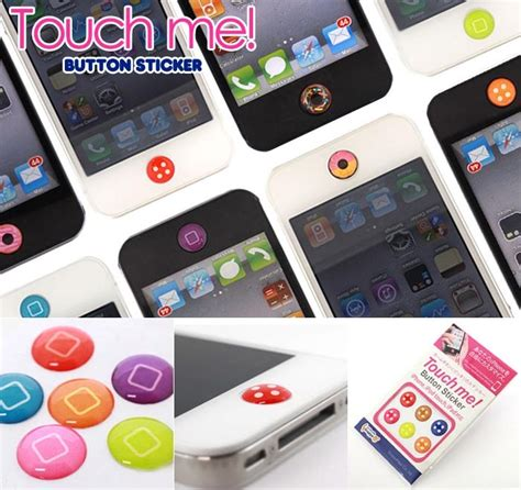 iphone home button sticker iphone itouch home button stickers to accessorize