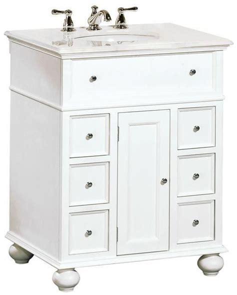 hampton bay  single bath vanity  white marble top