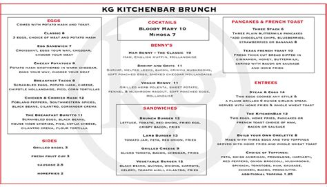 kitchen bar menu menu kg kitchen bar