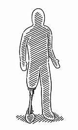 Prosthetic Disabled sketch template