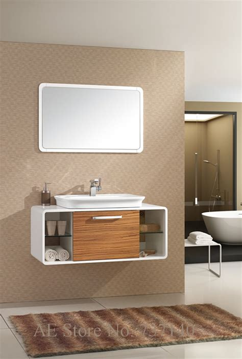 modern wood furniture Nordic oak bathroom cabinet
