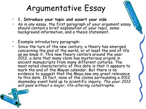 persuasive essay introduction example lecture 7 argumentative essay
