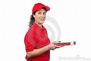 Pizza Delivery Woman Royalty Free Stock Image - Image: 5492116