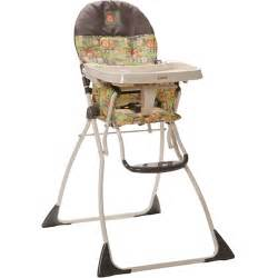 brand new cosco flat folding high chair monkey green brown traveling cup holder ebay