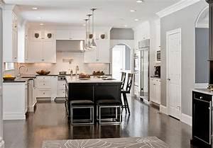 Idee cuisine ouverte avec ilot cuisine en image for Idee deco cuisine avec cuisine aménagée contemporaine